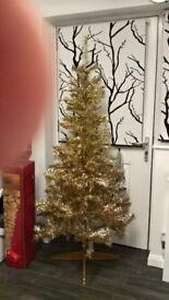 Gold Christmas tree 6ft