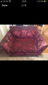 Two seater small sofa: Marks and Spencer.