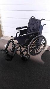 """#001  18"""" wide  Invacare Patriot FOLDING Lightweight Aluminum Frame Wheelchair for ONLY $150"""