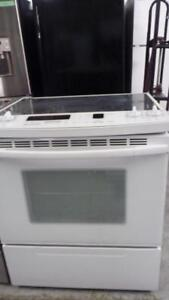 213- Four Cuisiniere Blanche Encastrable Kitchen Aid  Slide-In White   Stove  Oven