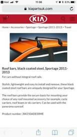 Kia Sportage roof bars detachable 2011 -2014 onwards models for roof box