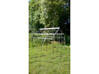 Arch top aluminium greenhouse