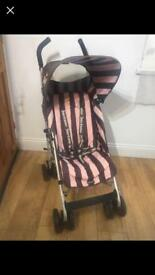 Maclaren Juicy Couture Limited Edition Buggy Stroller Pushchair Pram