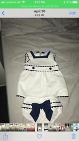 Designer sailor style suit