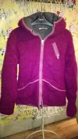 Pachamama M/L dark pink knitted jacket