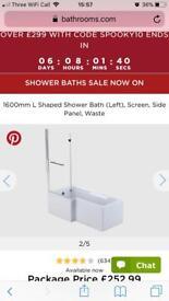 L shaped bath