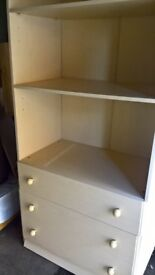 Dresser, two draws and shelves