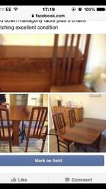 Dining table drop leaf mahogany