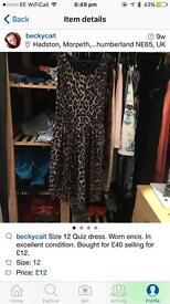 Quiz size 12 dress
