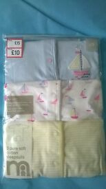 3 NEW Mothercare sleepsuits (up to 3 months)
