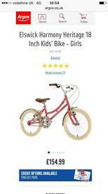 "Girls vintage style bike 18"""