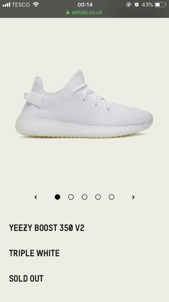 da81e3f000d reduced adidas yeezy boost 350 v2 triple white brand new size uk 8.5 5ad1a  8c8ec