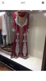 Beautiful Red Asian bridal ex-sample gown