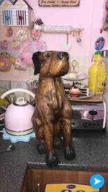 Wooden carved dog