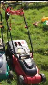 Electric lawnmower, parts.