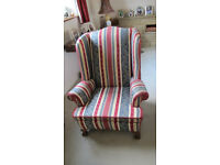 Traditional Antique Wing Backed Chair