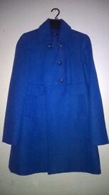 """Womens Double Breasted Military Style Jacket Cobalt Blue Size 14 34"""""""