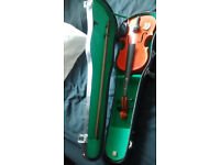 NICE VIOLIN AND HARD CASE PLUS BOW.