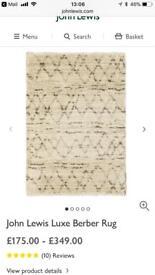 Luxe Berber rug from John Lewis