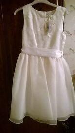 2 Ivory flower girl dresses - Brand New