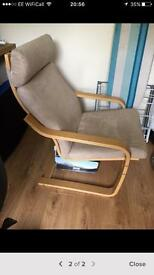 Ikea paong beige chair