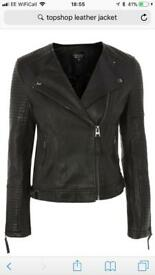 Topshop leather look jacket