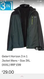 Gelert Horizon 3 in 1 Jacket Mens - size 3XL (XXXL) RRP £99