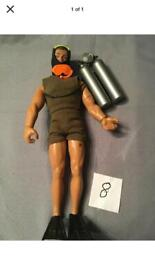 Vintage action man in scuba outfit
