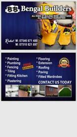 Builders, plumbing, extension, painting, laminate, tiling, kitchen bathroom