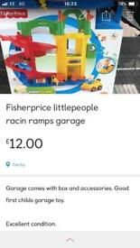 Fisherprice little people racin ramps garage