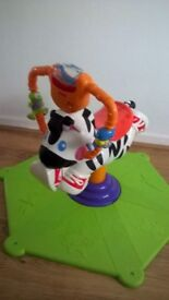Kids toys Bouncing toy playing toy zebra