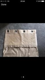 Ring top curtains from dunelm in excellent condition