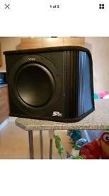 Vibe 12 inch slick subwoofer in box with built in Amp - 1200 watts