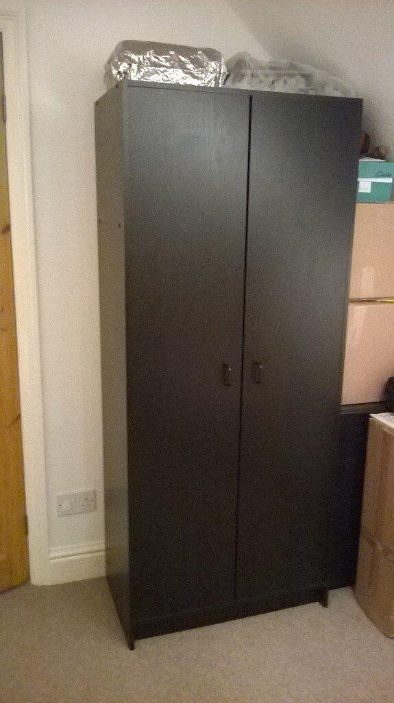 promo code 43ba9 ec14c Wardrobe, black ash, single width, excellent condition | in Ilkley, West  Yorkshire | Gumtree