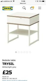 Ikea bed side tables set of 2!! QUICK SALE