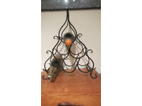 Ornate Wraught iron Spanish design wine rack