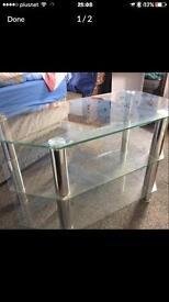 Glass corner tv stand unit