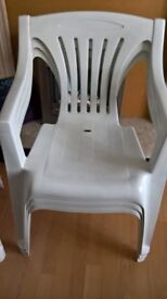 White garden chairs x 3 Very good quality. Free delivery in leicester. £25