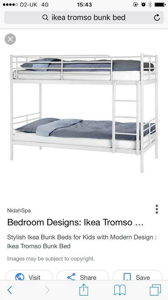 Ikea Tromso Off White Metal Bunk Beds In Cumbernauld Glasgow