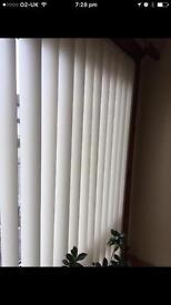 Set of 3 vertical PVC blinds