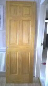 Six Panel Solid Pine Internal Door