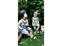 2ft Jack and Jill statues £50