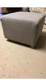 Large tweed foot stool
