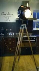 Vintage lamp and tripod