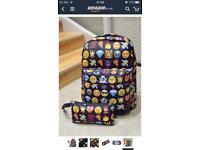 Brand new kids emoji rucksack & pencil case