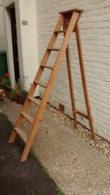 Vintage wooden Stepladder great condition