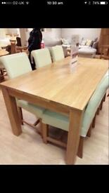 Oak furniture land dinning table