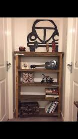 Very solid hand made industrial style bookcase/shelf unit - different sizes upon request