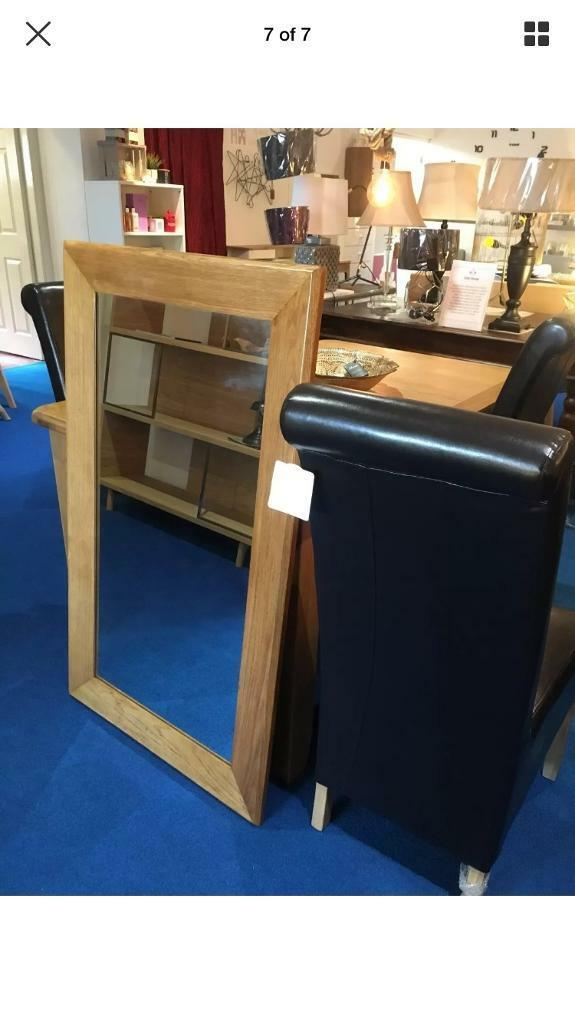 new furniture village large halo solid oak wall mirror was 329 in