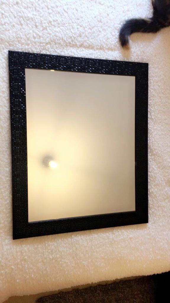 Black plastic mirror